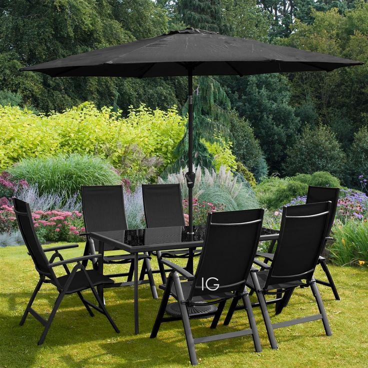Royalcraft Sorrento 6 Seat Recliner Rectangular Dining Set   Black  Garden  Furniture. 40 best Garden Furniture images on Pinterest   Garden furniture