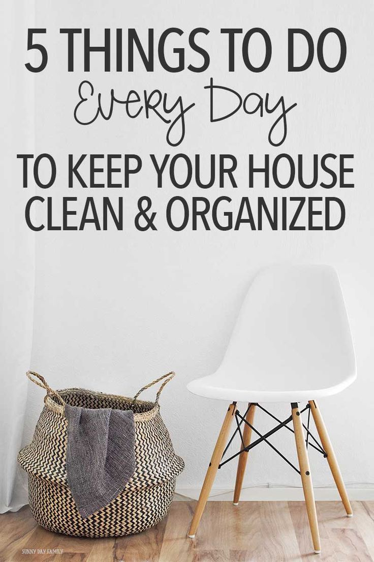 Do these 5 things every day to keep your house clean and organized - even when you have kids and pets! These tips really work and they are so easy to do. Cleaning | Organizing | Mom Life