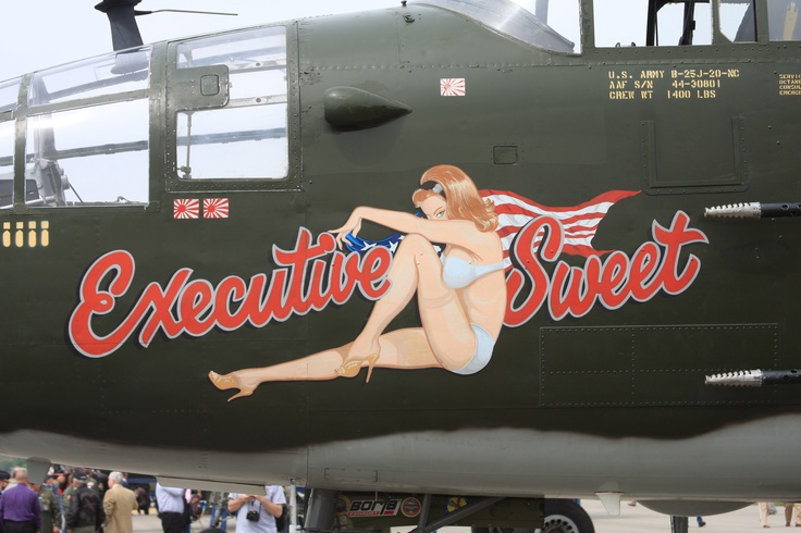 Executive Sweet, flying B-25 Mitchell.