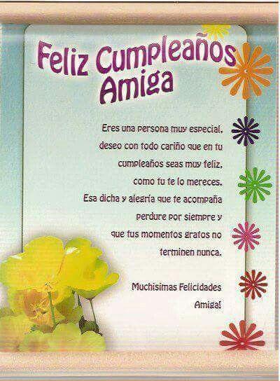 Cumpleaños amiga