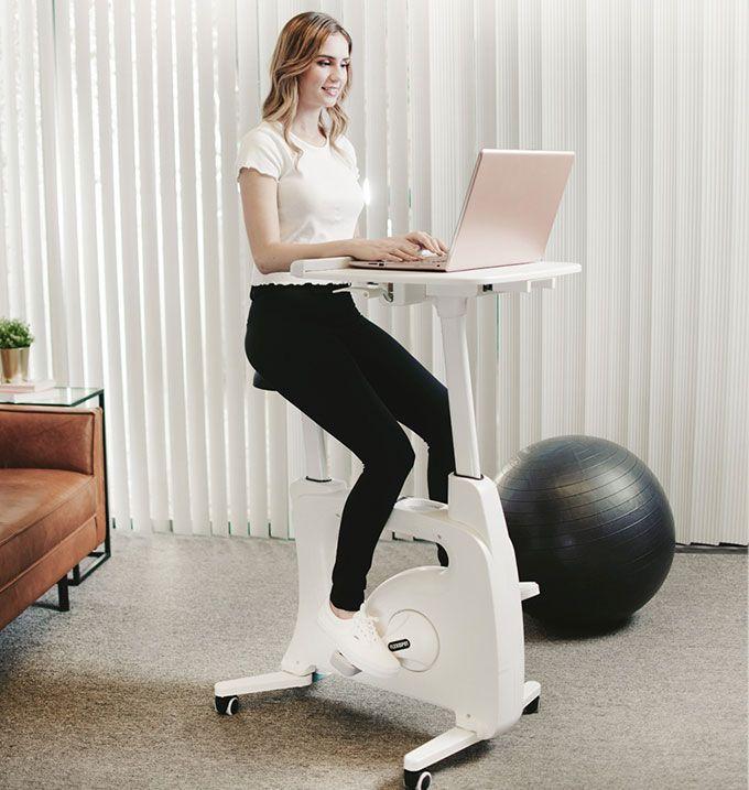 Office Desk Exercise Bike, Standing Desk Stationary Bike