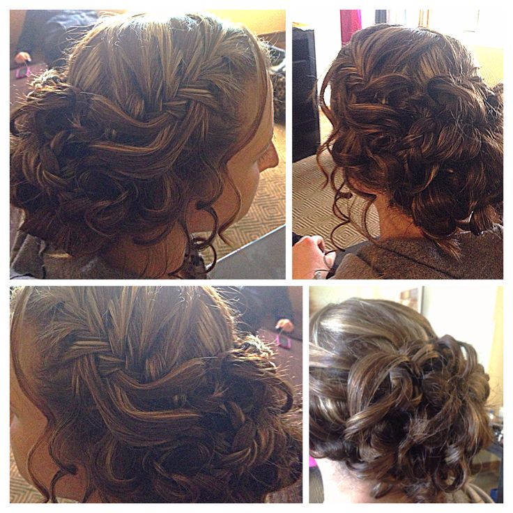 curlsbycole hair stylist bridal party brides hair updo curls brunette braid event special day october - Freelance Hair Stylist