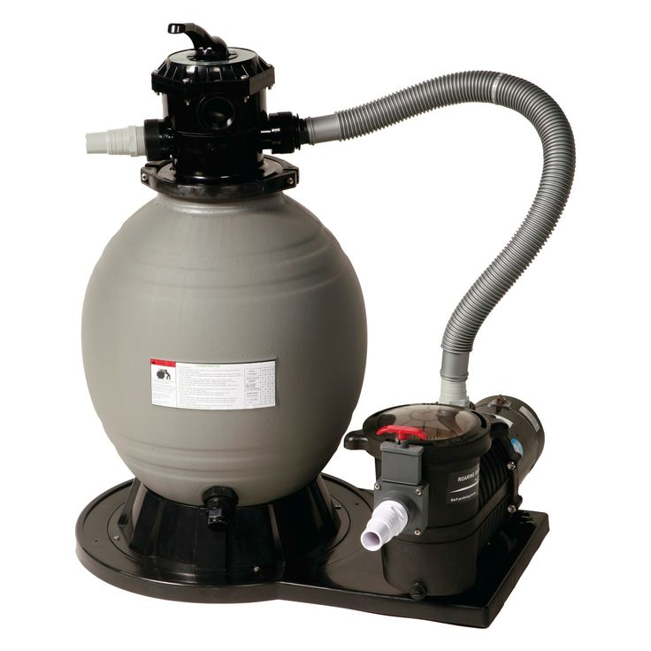 22-in Sand Filter System w/ 1.5 HP Pump for Above Ground Pools, Black