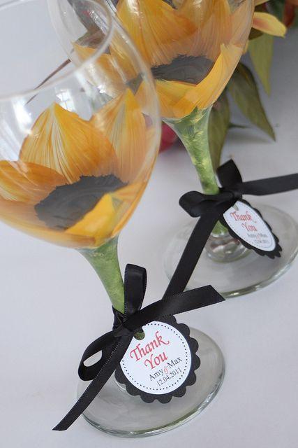 Sunflower wedding how cute :D