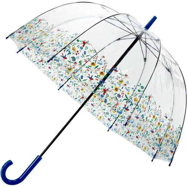 John Lewis Archive Birdcage Umbrella, Clear ($29) ❤ liked on Polyvore featuring accessories, umbrellas, floral umbrella, john lewis and clear umbrella