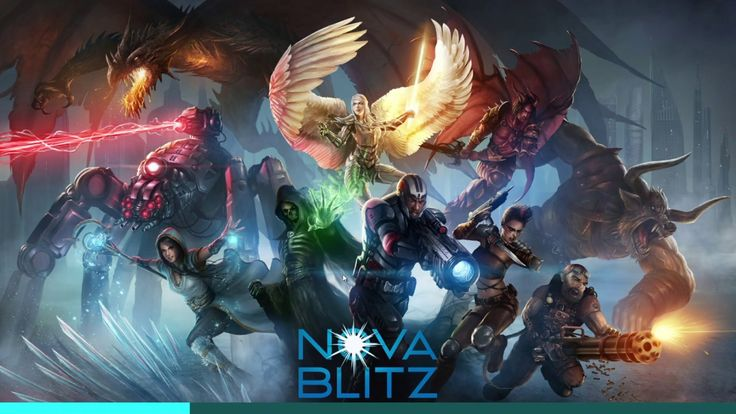 Nova Blitz CARD GAME play #1 - Nova Blitz is a Free-to-play Real-time Trading Card Multiplayer Game featuring unique real-time turn system