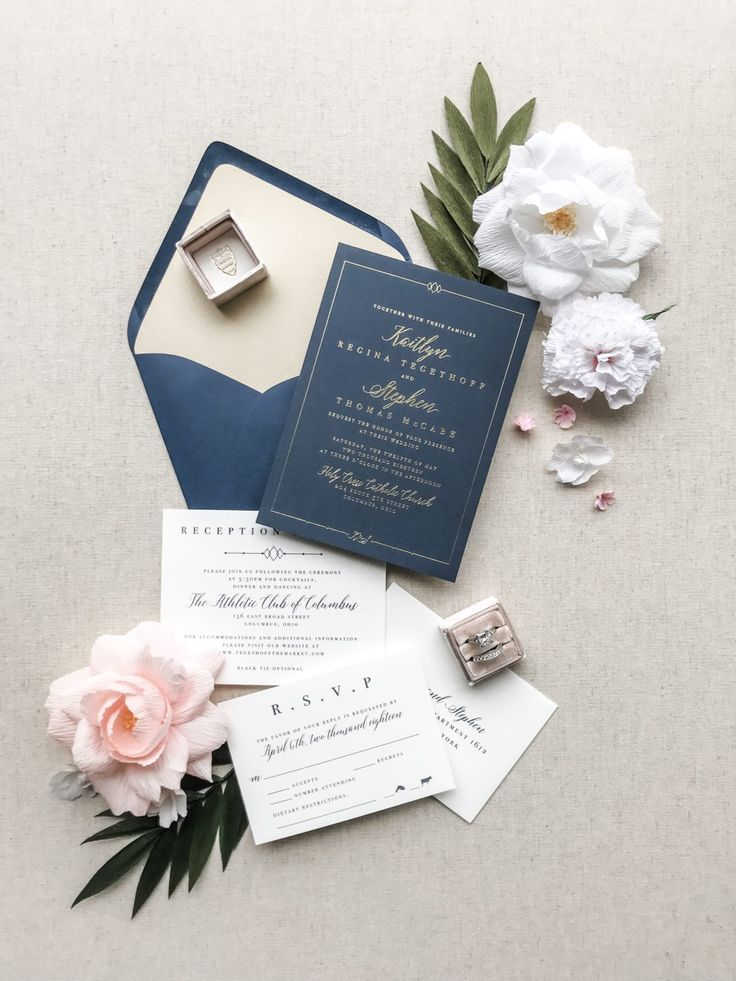 A Glamorous Navy Pink And Gold Wedding