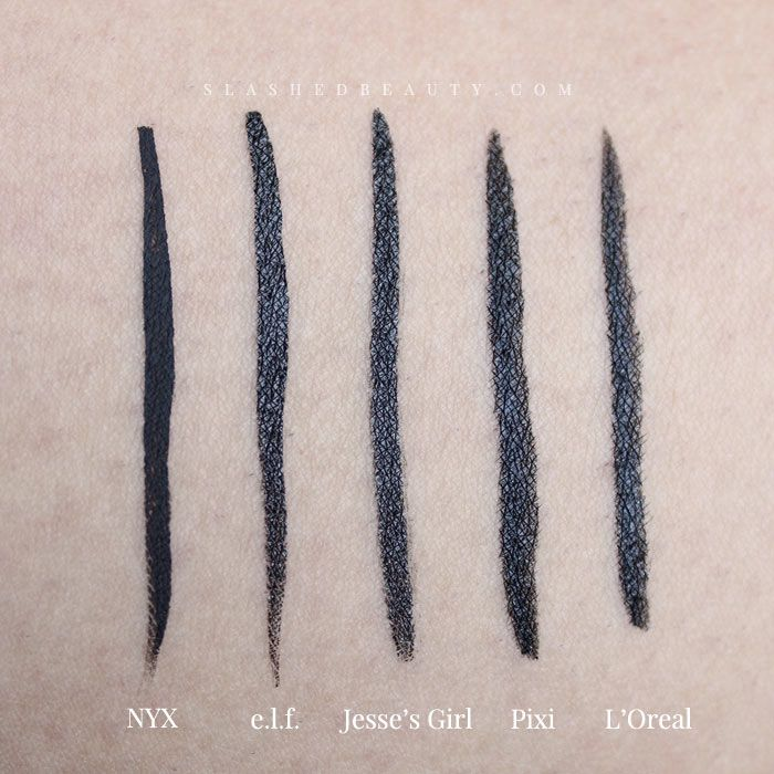 These 5 eyeliners are the best drugstore liquid liners out there right now! Find out why.   Slashed Beauty