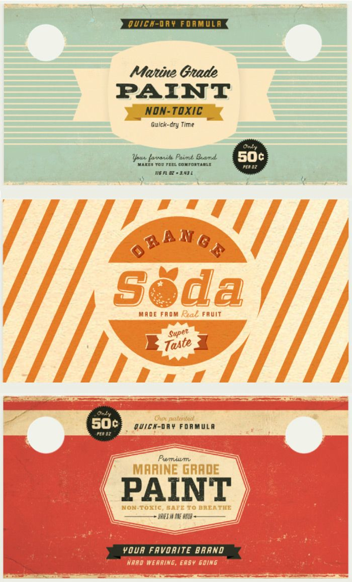Vintage packaging    wow this old style is looking quite sexy all over again! Comeback of retro graphic design?