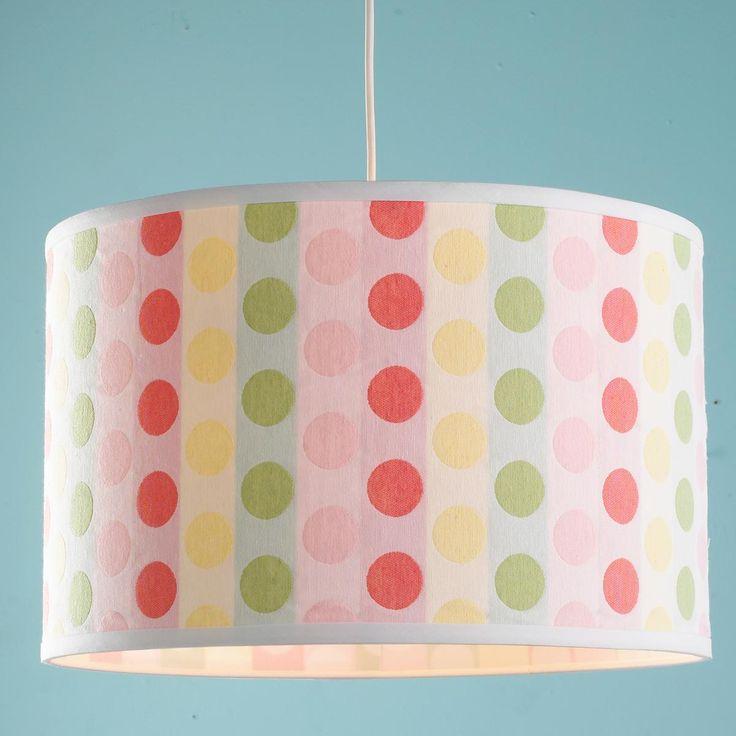 18 inch Polka Dot Shade Pendant Light  Children s. 69 best Children s Lighting   Rugs images on Pinterest