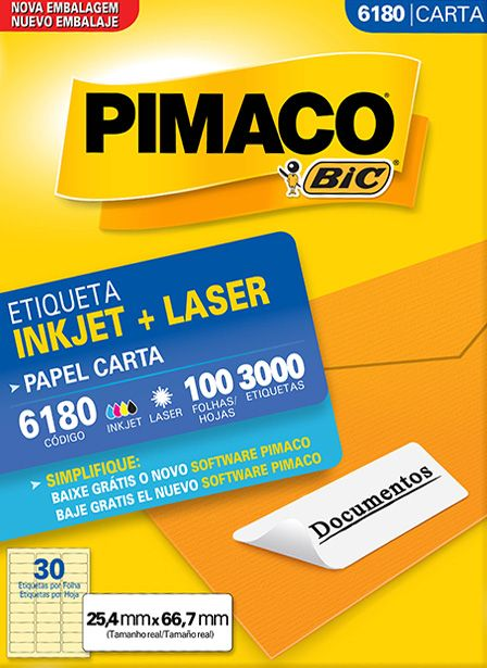 PIMACO - Inkjet + Laser - 6180 - Carta 100 folhas