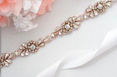 ROSE-GOLD-SALE-Wedding-Belt-Bridal-Belt-Sash-Belt-Crystal-Rhinestones-sash-be