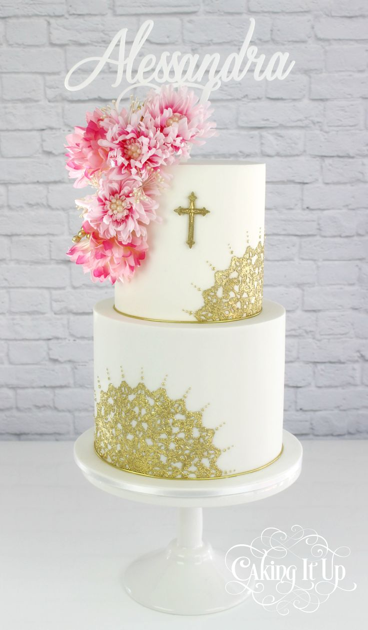 Baptism Cake Ideas For A Girl