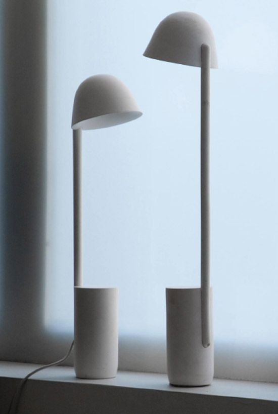 Lampalumina by Bouroullec Brothers: Tête à tête : )  Made of industrial ceramic. #Lamp #Bouroullec_Brothers