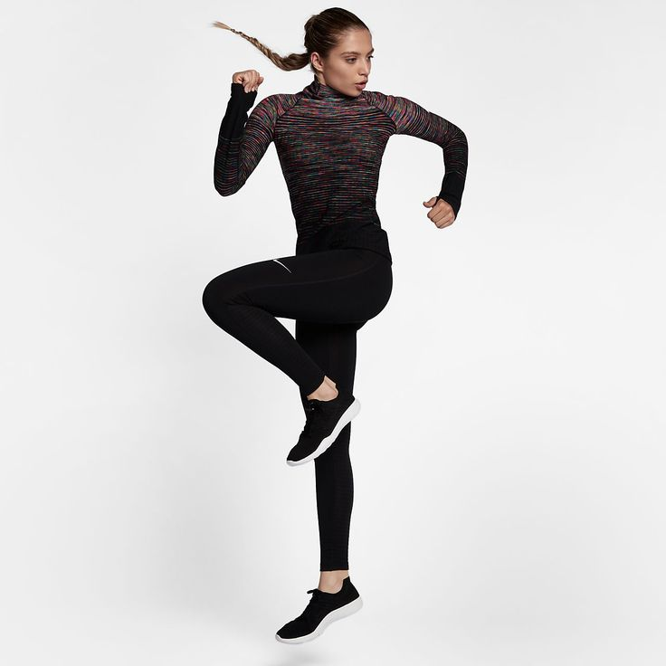 I have this Nike Pro HyperWarm Women's Long Sleeve Training Top. I wear it under a Nike Vest for golf on chilly mornings . . . and I love it! The Nike Pro HyperWarm Women's Long Sleeve Training Top is made with stretchy fabric that holds in heat to help keep you warm, dry and comfortable during outdoor workouts.