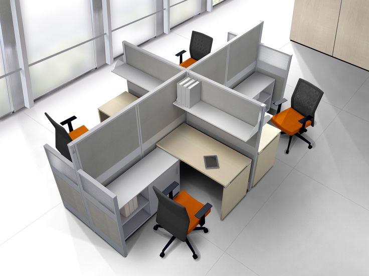 Equipos de trabajo oficina abierta comunicaci n for Disenos de escritorios para oficina