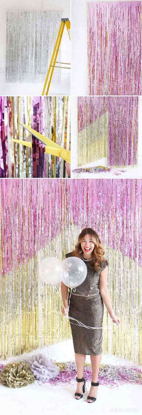 8 DIY Chevron Fringe Photo Booth Backdrop