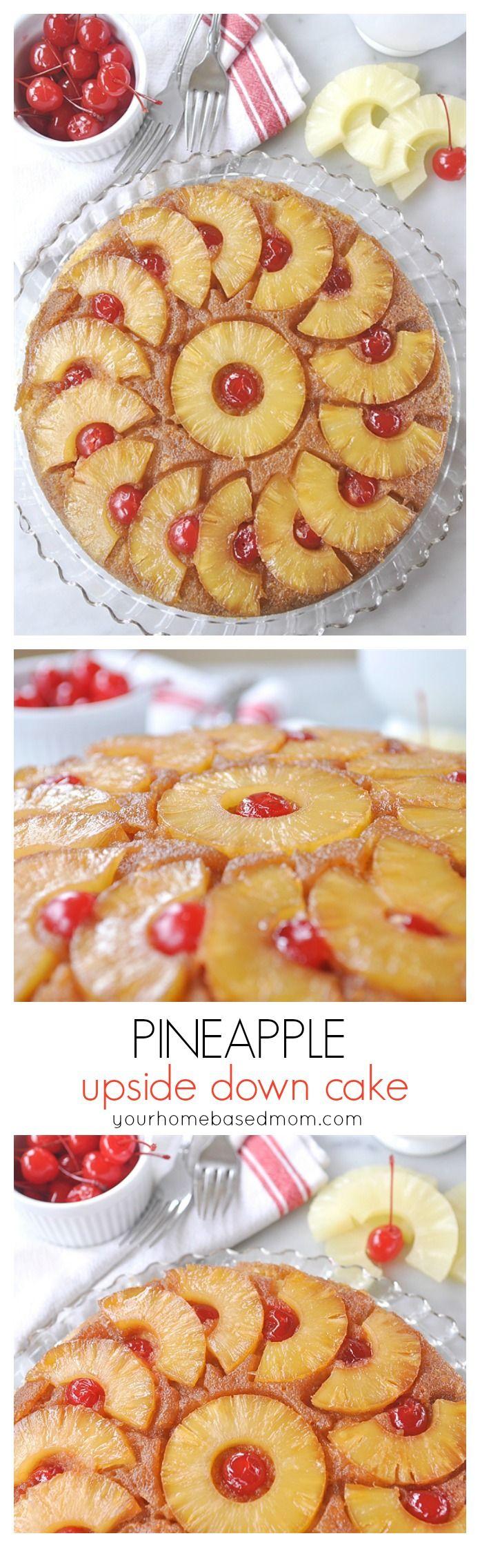 Pineapple Upside Down Cake - a family favorite @yourhomebasedmom.com
