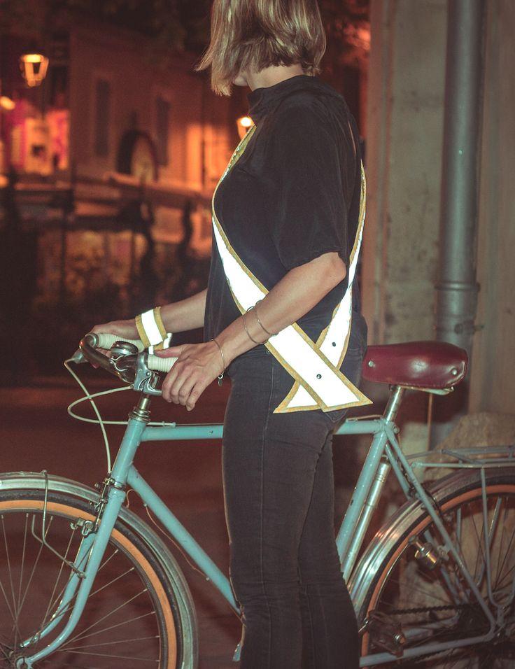 Écharpe réfléchissante réversible/  Reversible reflective sash  #MoonRide #MoonRideSpirit #collection #SweetBoheme #sweet #boheme #lovely #woman #femme #backpack #bike #trendy #tendance #fashion #lifestyle #street #urban #summer #paris #vélo #bike #city #safety #sash #echarpe