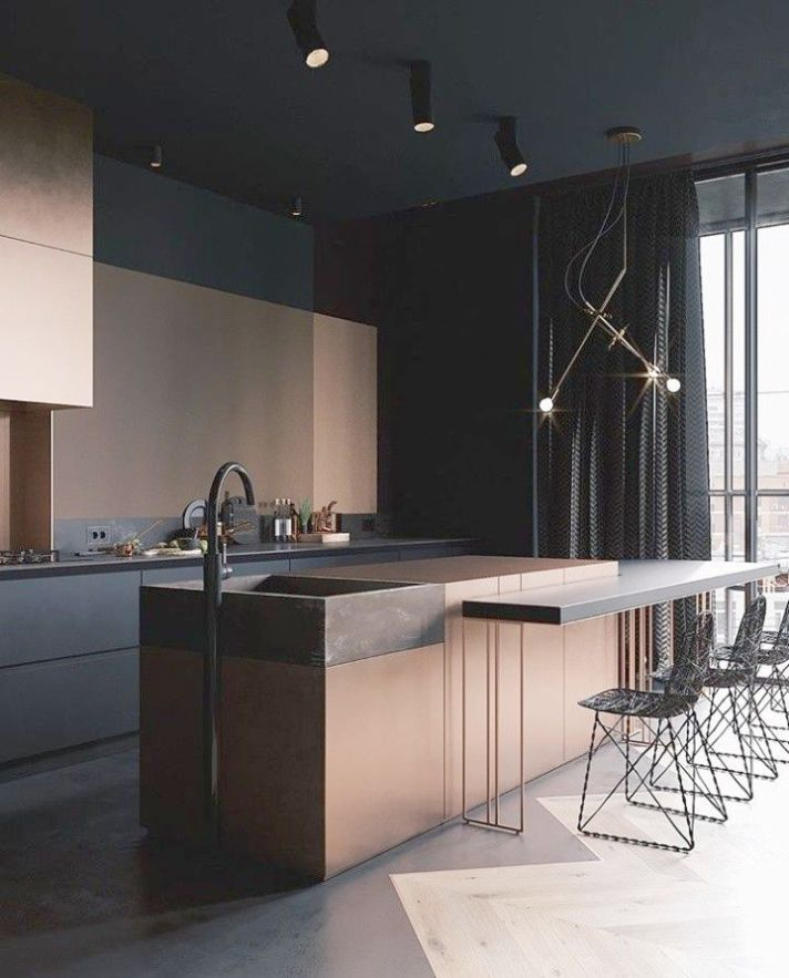 Home Styles Kitchen Island The Furniture Blogger интерьер кухня черного цвета минималистский интерьер
