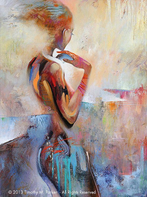 Figuur van de abstracte kunst  figuur schilderij reproductie