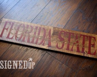 Florida State Seminoles ACC Football Wooden by TheTeacherBelle