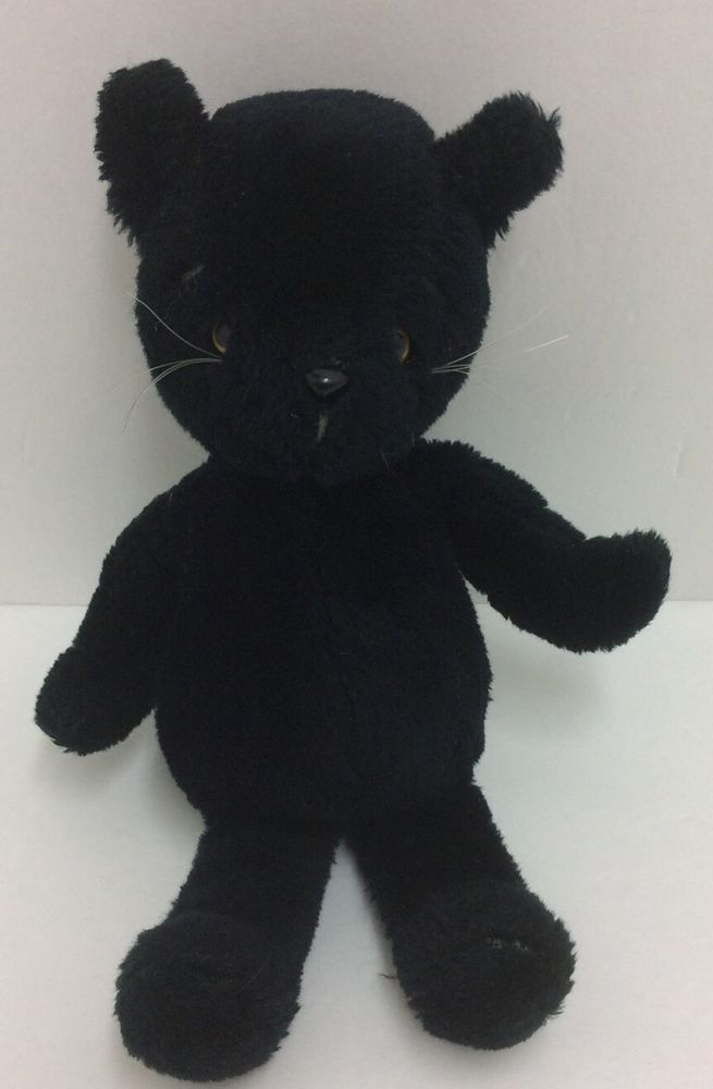 Determined Products 1979 Allie Black Cat Plush Joshua Bear