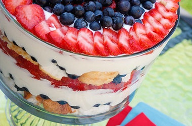 Red, White and Blueberry Trifle Recipes | Food and Drinks | Pinterest