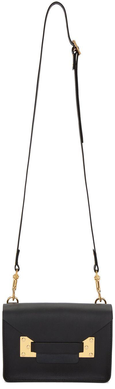 Sophie Hulme - Black Mini Milner Crossbody Bag