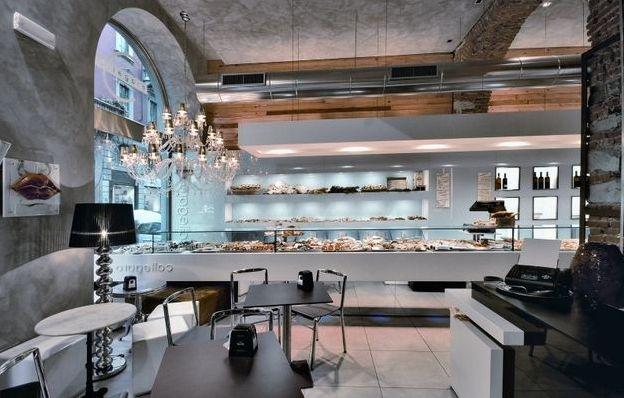 Концептуальный дизайн интерьера пекарни в стиле китч
