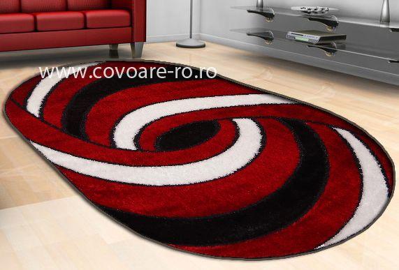covoare moderne ,covor rosu alb negru,pentru living