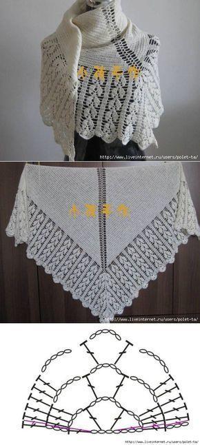 White shawl with fringe