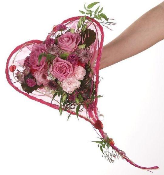 Rozowy Bukiet Slubny w formie serca   Pink Bridal Bouquet - Heart Shape   www.kaja.lebork.pl   FB: Kwiaciarnia KAJA