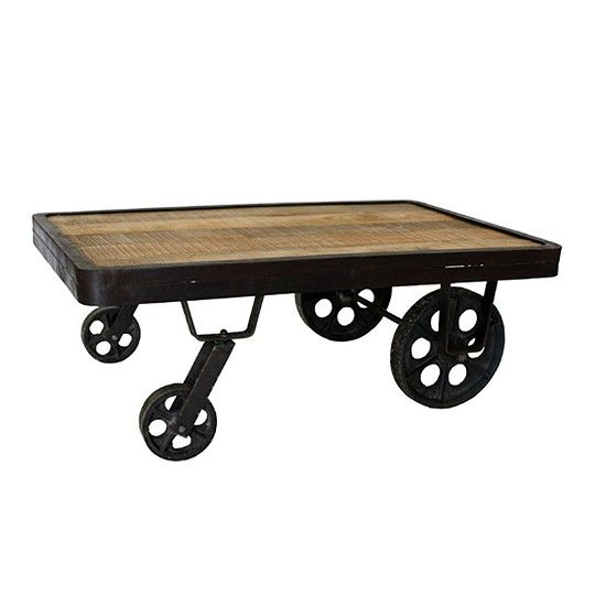 Industrial Cart Coffee Table From The Furniture Market Cart Pinterest