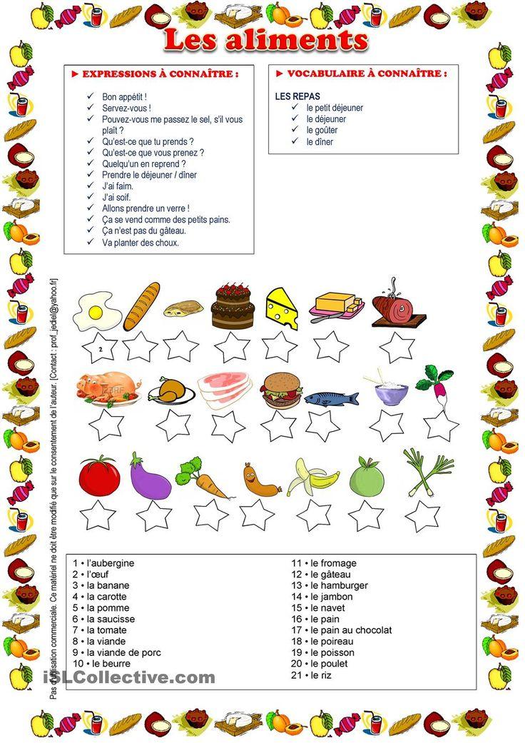 Les aliments *faites le match entre l'image et son nom* (5)