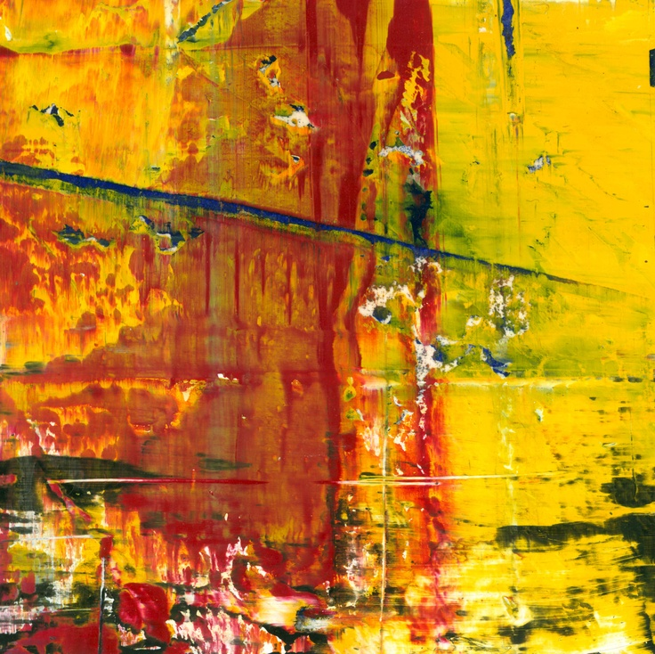 Abstract painting by Jakob Weissberg, 2011, oil on paper