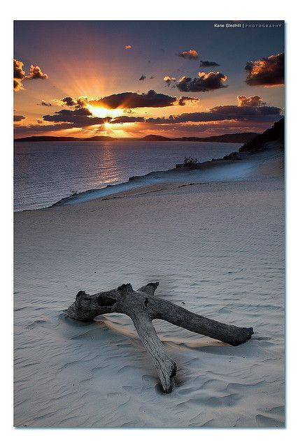 Sunset at Carlo Sand Blow Rainbow Beach Queensland,Australia