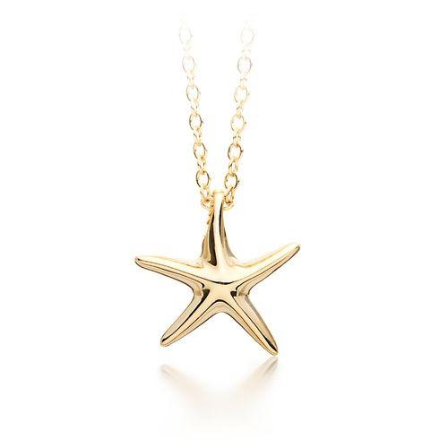 Designer Starfish Pendant Gold Plated