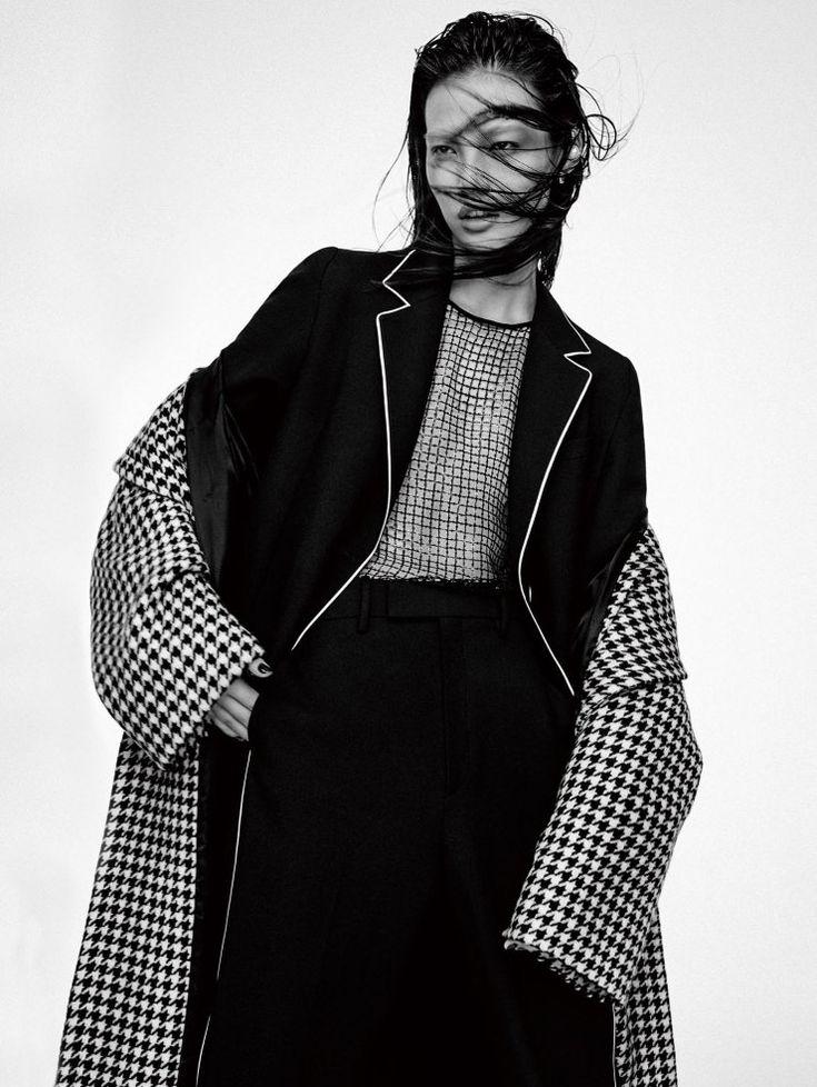 """""""Tweed Attitude"""", Meng Zheng by Yu Cong for Vogue China, November 2015"""