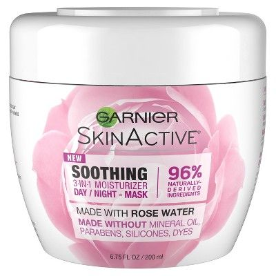 Garnier SkinActive 3-in-1 Face Moisturizer with Rose Water – 6.75 fl oz