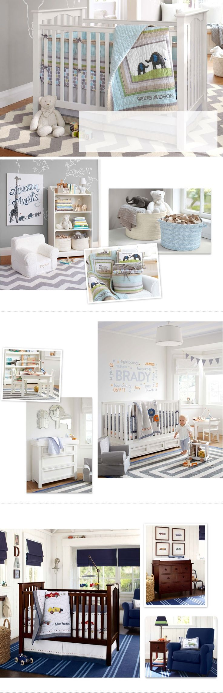 Baby Boy Nursery Ideas & Nursery Ideas for Boys   Pottery Barn Kids - writing on wall