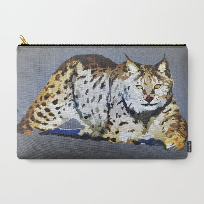 Lynx Carry-All Pouch by Animilustration | Society6