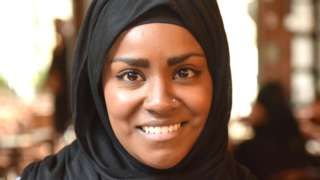 Celebrity baker and Great British Bake-Off Champion Nadiya Hussain has talked to Shaimaa Khalil for the BBC's 100 Women season about coping with fame, her identity as a British Muslim and writing about defiant women.  Mrs Hussain's success on the BBC baking competition was watched by a record audience of over 13 million people last No