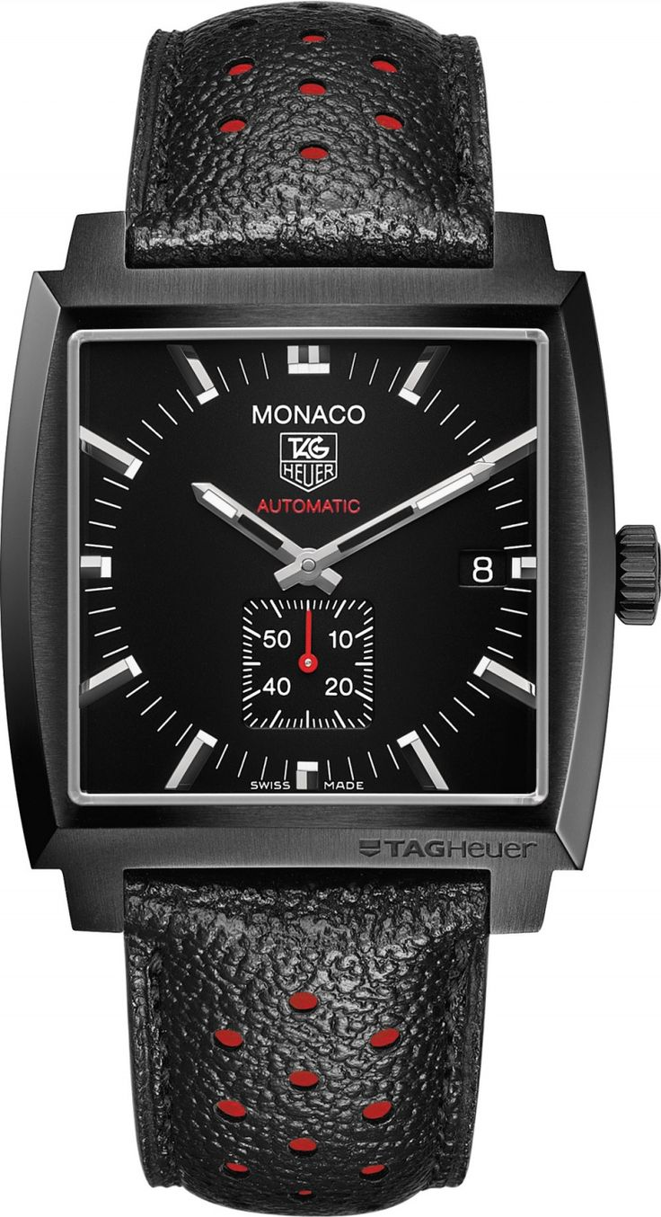 TAG Heuer's new MONACO (37mm) Calibre 6 Automatic 2014 Full Black will be available exclusively from May to September 2014 - reference number WW2119.FC6338