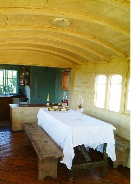 Converted Railway Carriage In Norfolk Rail Car House
