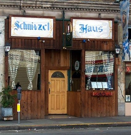 """Schnitzelhaus"" (2000-2010) in San Francisco, was owned by the late Walter Kallmann -  when he suddenly passed away the restaurant closed shortly thereafter. It was located on 9th near Folsom St."