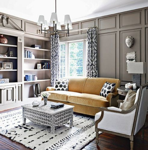 AphroChic: Nate Berkus Presents A Rich Color Palette of Blue, Gold and Coral In The Home Of Iyanla Vanzant