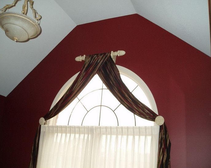 Arched curtain rod arch window curtains to choose depend Short curtain rods
