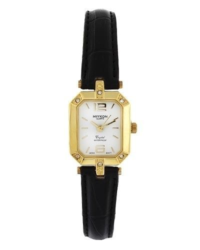 Miykon Dress Style Watch for Women Fashion Synthetic Leather And Gold Tone -W37  #Unspecified #Dress
