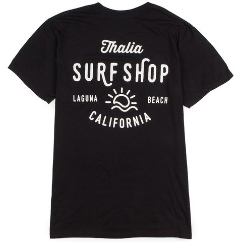 The Thalia x LCAD Sun Shine Men's Tee in the Black Colorway is part of the Thalia x Laguna College of Art & Design Collab. It's an ultra-soft 100% cotton tee with a ribbed crew neckline. Screen print